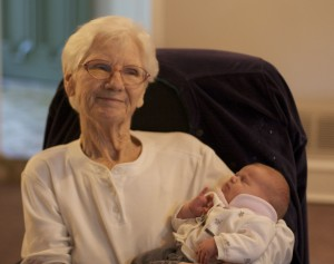 Patrick's grandmother made a special effort to come meet Emily and we were so glad to capture that in a picture.